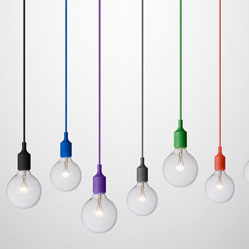 Modern Silica Gel Pendant Lights Little Hanging Lamp For Restaurant Livingroom Children Room Christmas Decorations For Home Loft