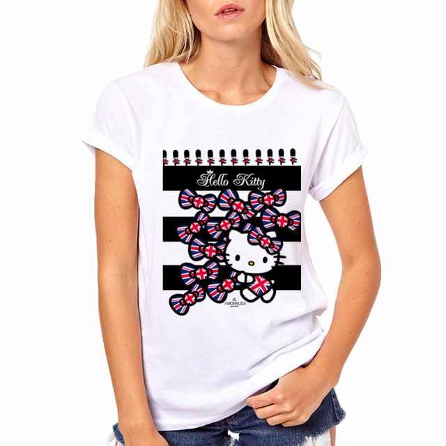 7a65ba0fdbc LYTLM Harajuku Kawaii Shirt Hello Kitty Girls Clothing White Oversized T  Shirt Summer 2018 Women Streetwear