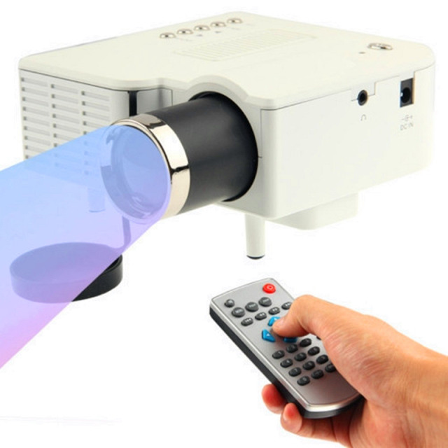 NOVA UC28 + mini Projector com HDMI Mini Micro AV LED Digital vídeo Multimedia Home theater Suporte HDMI VGA AV USB SD Portátil