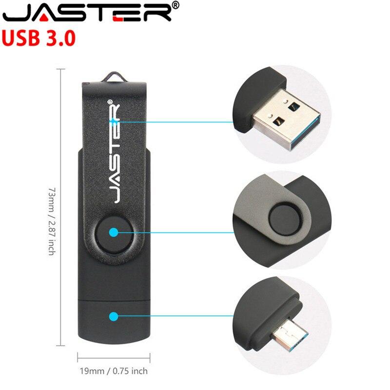 JASTER USB 3.0 Flash Drive 8GB 16GB 32GB Pendrive Meta OTG USB 2.0 Flash Stick External Storage For Smart Phone