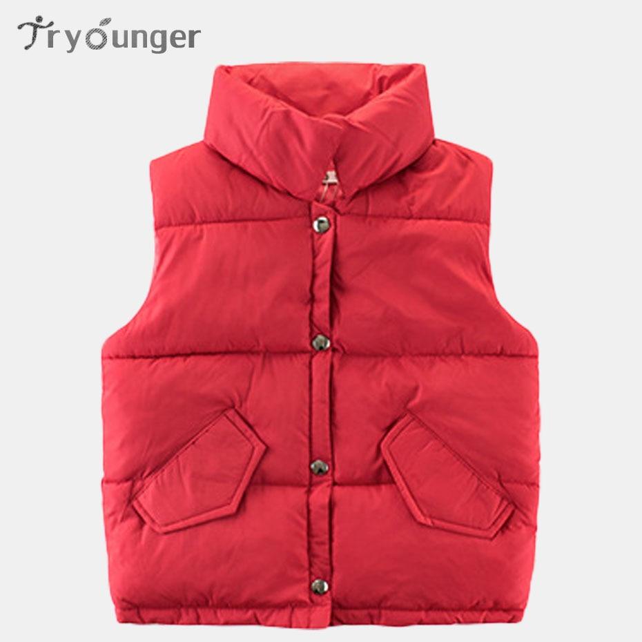 Winter Vest For Children Solid Girls Vest Warm Thick Vest ...