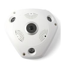 MOOL מקצועי 360 תואר פנורמי 960 p HD מצלמה אלחוטי IR אור הנורה Fisheye מצלמה אבטחת הנורה WIFI מצלמה