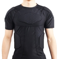 Outdoor Sports Honeycomb Compression Shirt Anti Collision Short Sleeve T shirt Protective Gear Basketball Football Protect Cloth