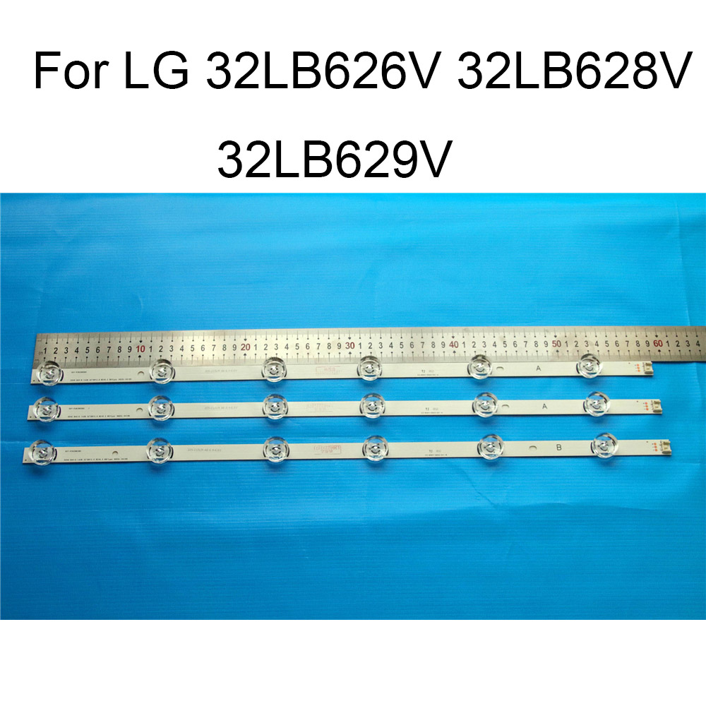 Brand New LED Backlight Strip For LG 32LB629V 32LB628V 32LB626V TV Repair LED Backlight Strips Bars A B TYPE 6 Lamps Original in Shell Body Parts from Consumer Electronics