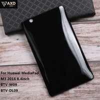Coque en polyuréthane thermoplastique de protection d'écran Ultra mince pour Huawei MediaPad M3 2016 8.4 pouces BTV-W09 BTV-DL09 antidérapant tablette PC housse arrière