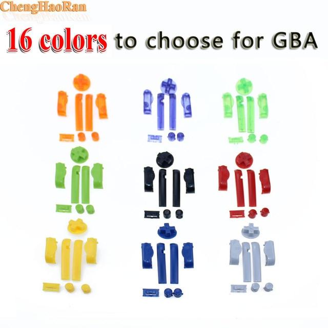 ChengHaoRan 1 ensemble de boutons de remplacement multicolore pour GBA Gameboy Advance boutons cadre D Pads mise sous tension des claviers L R A B