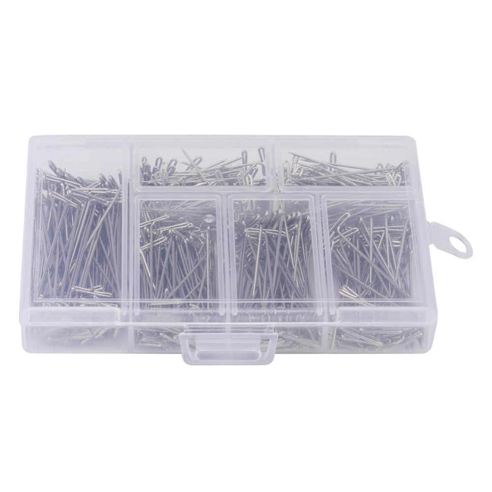450 Pieces/Set Steel T Pins Sewing Craft DIY Styling Tool For Wig Toupee Making Fix On Canvas Block Head T-pins for Modelling