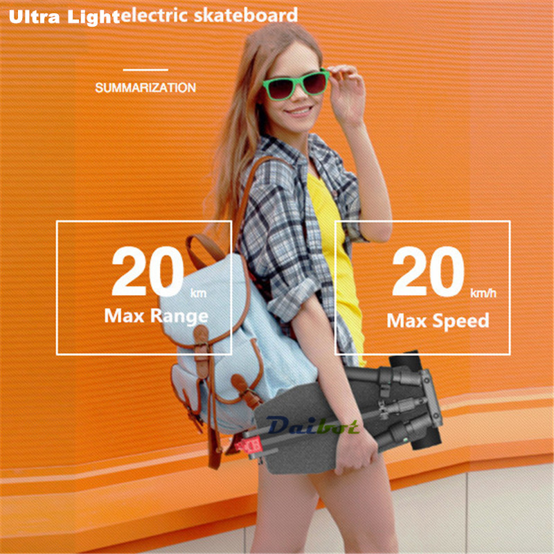 Folding Mini Electric Scooter 4 Inch Portable 3 Wheels Foldable Skateboard Hoverboard Kick Scooter kick-boards 6.3KG for Adults