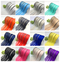 6mm-50mm Wide (5yards/lot) Grosgrain Ribbon Hair Bows Christmas Wedding Decoration DIY Sewing Crafts(China)