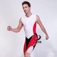 Мужская работа один кусок triarthlon костюм Железный человек купальники купальники спортивного плавания гоночный костюм мужчины купальник мальчиков плавать колена