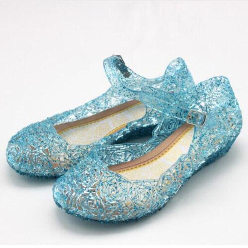 Zapatos de bebé niñas sandalias Anna Elsa niños Bebé Zapatos Elsa Princesa y Cosplay zapatos fiesta y cómodo UE 25-37