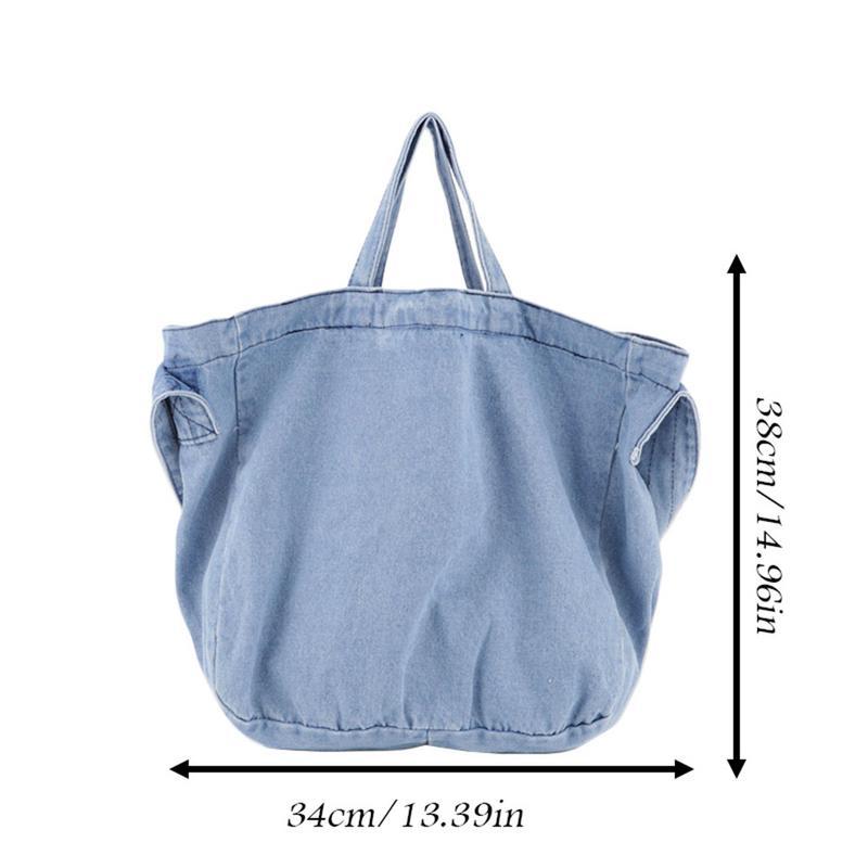 4e5e7763b Bolso de compras de hombro de pana sólida bolso de compras ecológico bolso  de compras Paquete