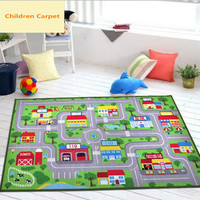 Polyamide Fibers Games Lane Children Carpet For Living Room Creative Design Kids Rugs And Carpets