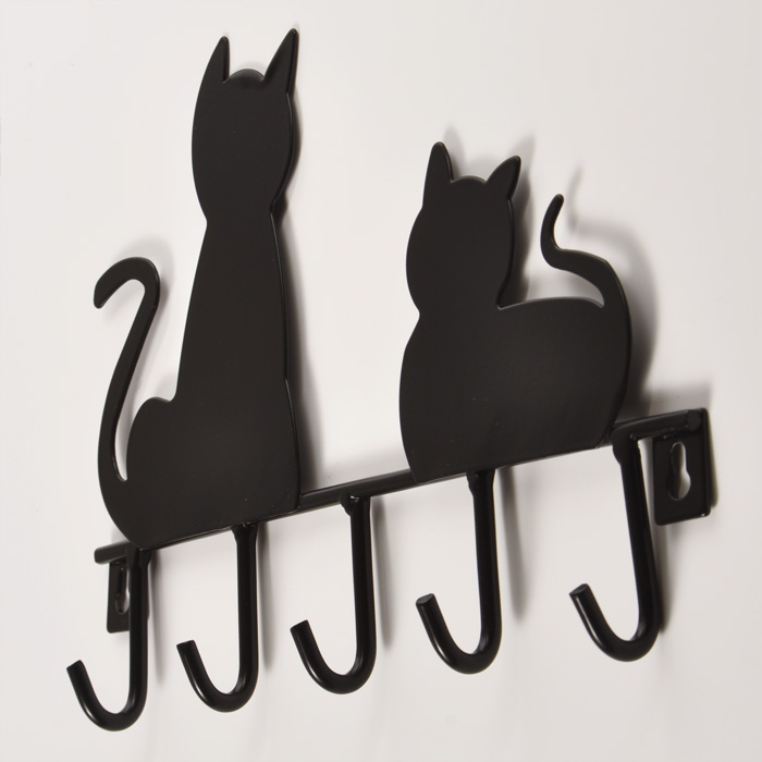 New Arrival Smallsweet Metal Pastoral Animal Figurines Miniatures Black Cat Home Decoration Accessories Vintage Home Decor My Sweet Home