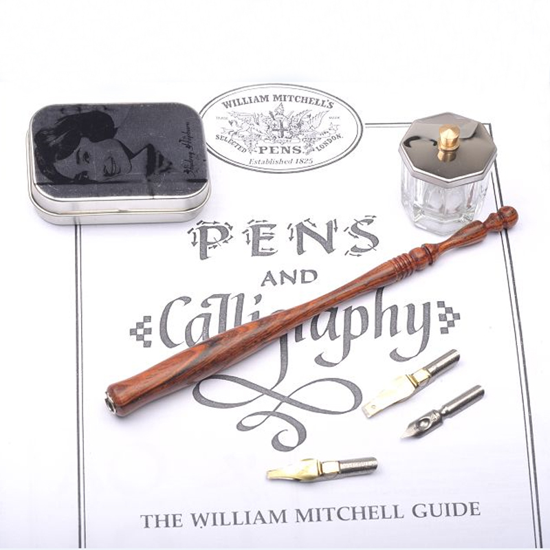 New Handmade Rosewood Calligraphy Straight Dip Pen Set with 3 Nibs 1 Fount Pen Holder  Nib Case Best Gift Copperplate  Dip Pen antique gothic calligraphy dip pen set pilot parallel english copperplate script pen with 1 inks 5 nibs 1 stamp 1gift box