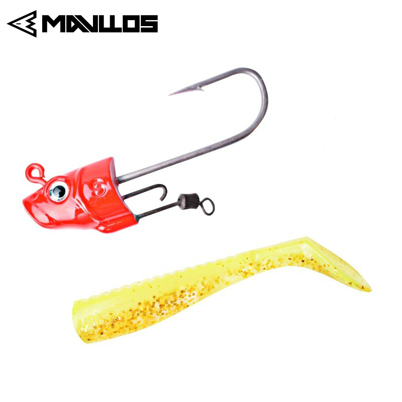 6PCS 10cm//2.8g Soft Plastic Fishing Bait Artificial Fish Lure Worm Swimbait