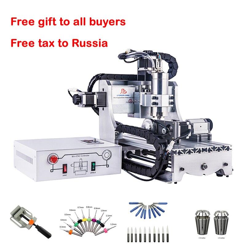 Mini 3 axe CNC bois Routeur 4 axe Graveur 3020 800 W métal gravure fraisage de forage machine ER11 cutters forage bits pince vice