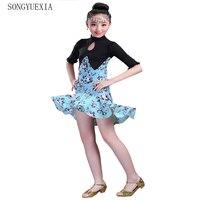 2017 Summer New Pattern Children Lading Dance Skirt A Juvenile Girl Show Serve Children Performance Practice