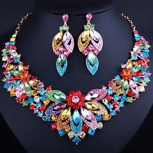 Свадебные украшения farlena изысканное ожерелье и серьги ручной