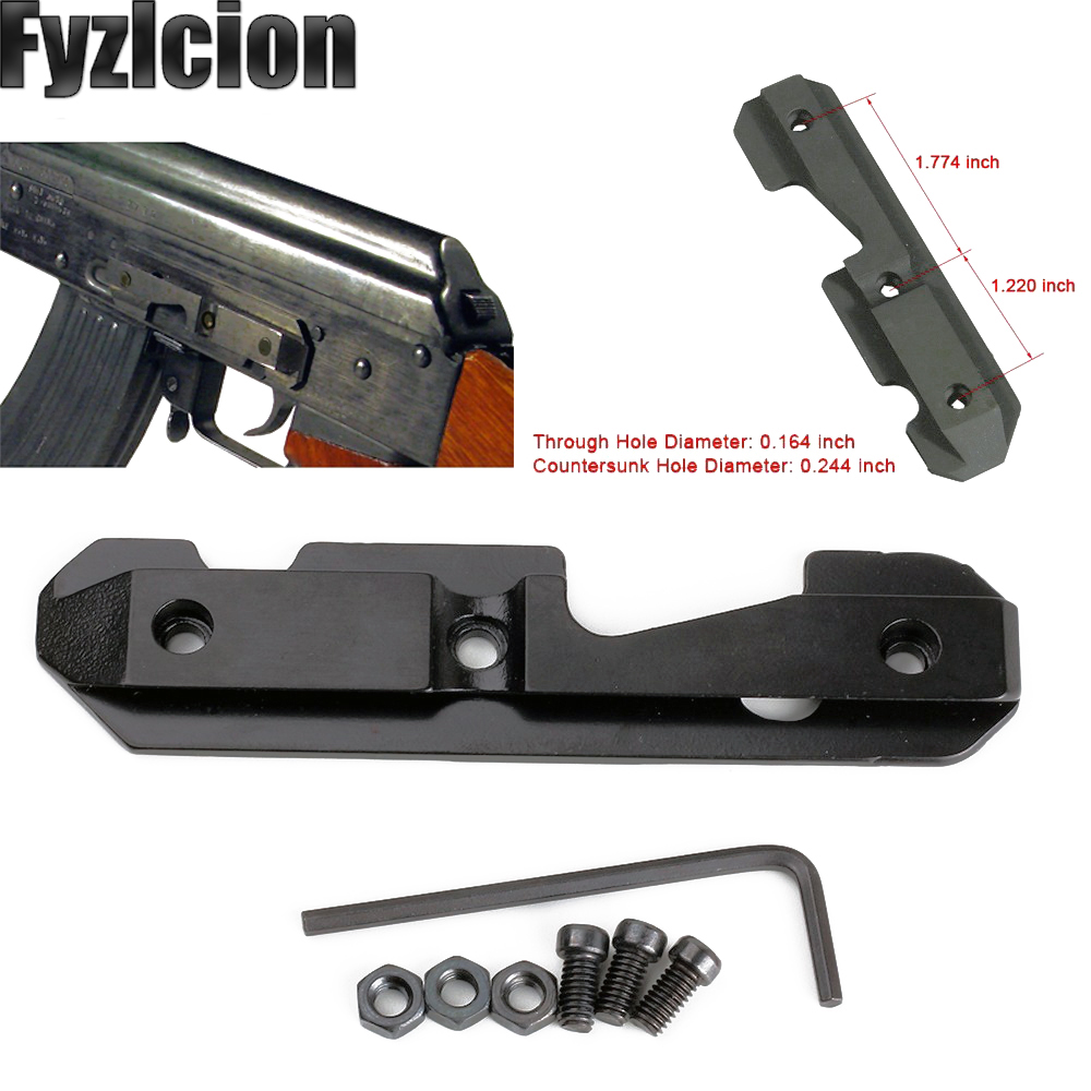 Rail-Scope-Mount Receivers. Dovetail Side-Plate AK47 Accepts-A-Wide Steel for Both-Milled