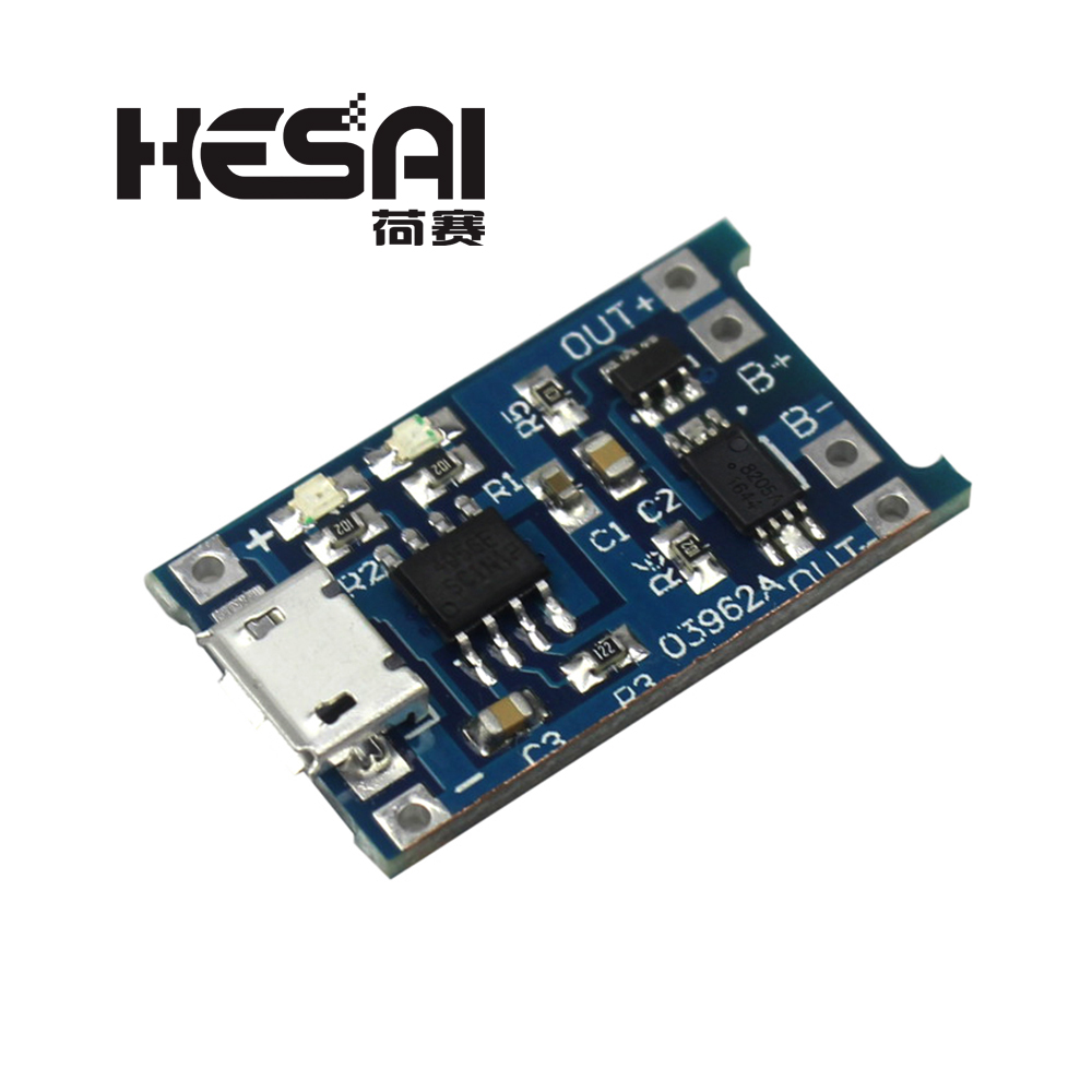 5V Micro USB 1A 18650 TP4056 Lithium Battery Charging Board With Protection Charger Module