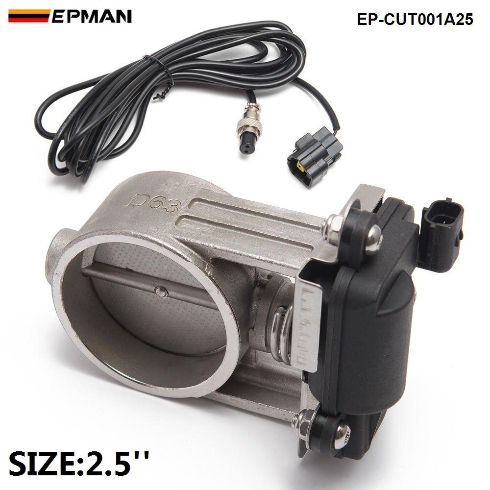 1 шт. 2,5 /63 мм выхлопных газов Управление клапан/выпускной вырезами клапан-Низкая Давление для выхлопных Catback downpipe EP-CUT001A25