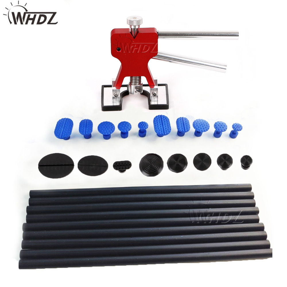 29pcs Paintless Dent Repair Dent Removal Tools Mini Dent Lifter Dent Puller Glue Puller PDR Damage Glue Pulling Tab Lifter dent pulling bits straight