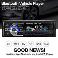 Car Radio Stereo Player Bluetooth Phone AUX IN MP3 FM/USB/1 Din/remote control 12V Car Audio Auto 2017 Sale New
