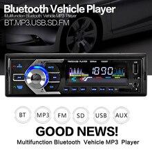 Автомобиль Радио Стерео-Плеер Bluetooth Телефон AUX-IN MP3 FM/USB/1 Din/дистанционного управления 12 В Автомобиля Авто аудио 2017 Продажа Новый