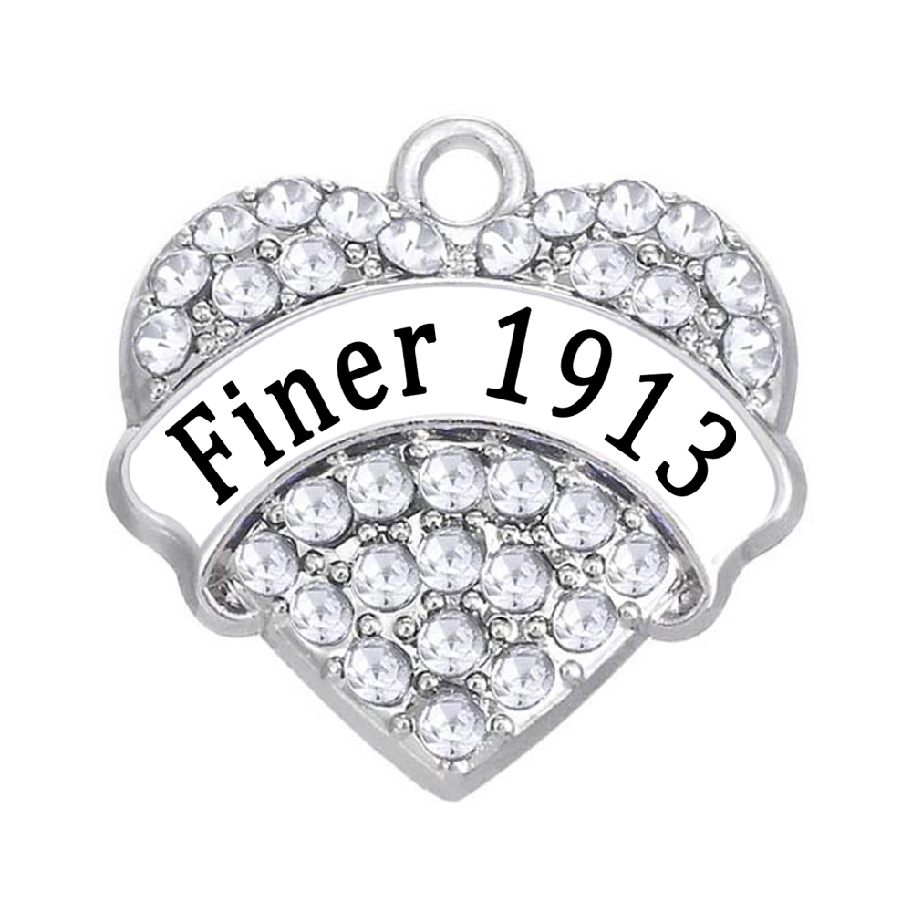 Pop Heart Rhinestone Crystal Metal Pendant With Finer 1913