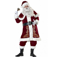 Rubie S Deluxe Velvet Christmas Santa Claus Suit Adult Mens Costume X Large L70948
