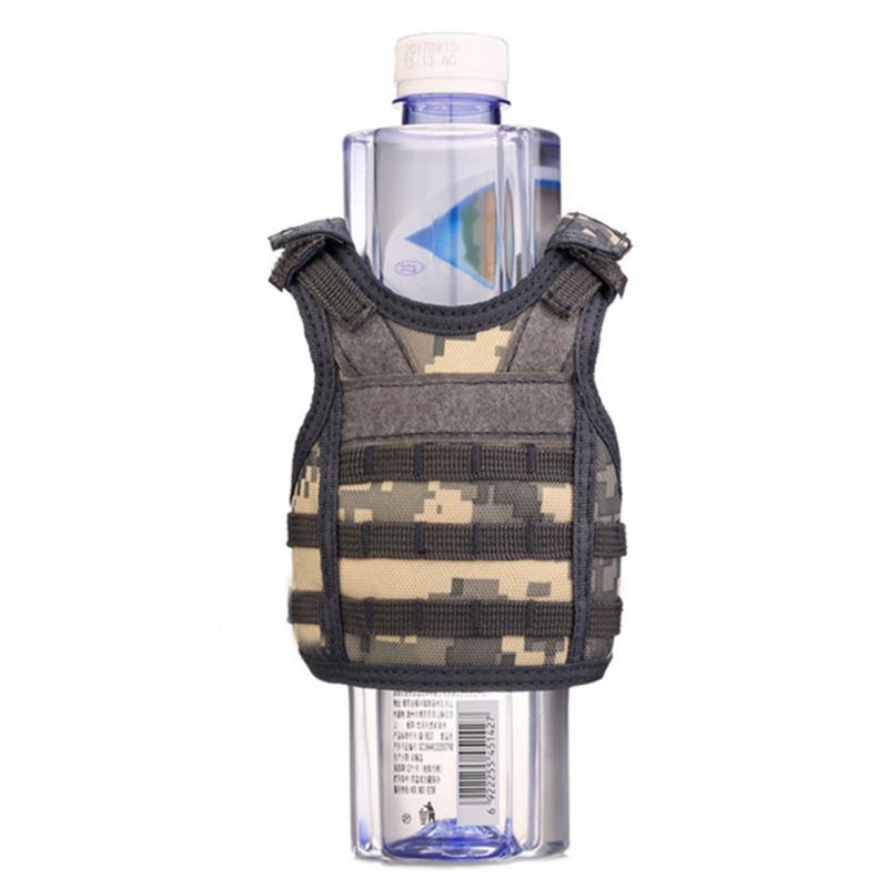Camping & Hiking Hiking Vests Beer Vest Mini Tactic Military Vest For Beer Bottle Miniature Wine Bottle Cover Vest Beverage Cooler Camping Hiking Accessories Volume Large