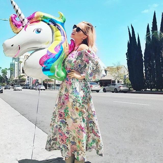 10pcs 126cm Anagram Rainbow Unicorn Μπαλόνια Foil Γάμος - Προϊόντα για τις διακοπές και τα κόμματα