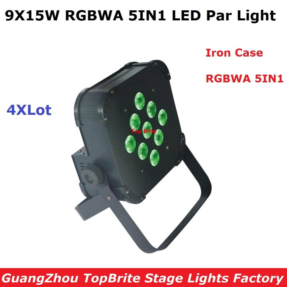 4Pcs / Lot Besplatna dostava 9X15W RGBWA 5IN1 LED Ravna svjetlost - Komercijalna rasvjeta