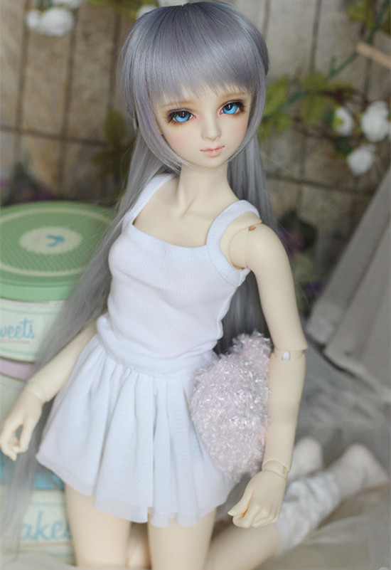 BJD doll dress white Condole belt render dress for 13 BJD SD DD SD10 SD13 SD16 DDDY doll clothes accessories