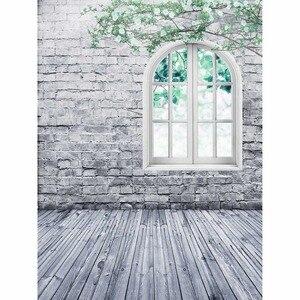 Image 4 - Allenjoy photography background white brick wall window Twig spring backdrop studio children princess girl econ vinyl photophone