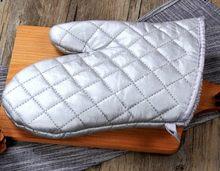 Gants de cuisine épais en sergé noir, résistants à la chaleur, pour BBQ, 1 pièce, en Polyester et coton, LB 118