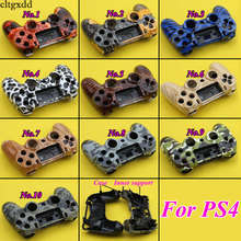 cltgxdd Front Back Hard Plastic Upper Housing Shell Case With Inner Support for PS4 Wireless Controller Cover