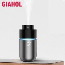 Мини-очиститель воздуха, портативный увлажнитель воздуха, автомобильный диффузор, USB освежитель воздуха, парфюмерный аромат, лучший для автомобиля, домашнего рабочего стола, серый, 200 мл
