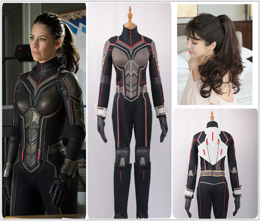 2018 Movie Ant-Man And The Wasp Cosplay Costume Women Outfit Halloween Jumpsuit
