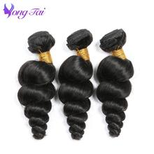 YongTai Company Brazilian Loose wave Remy Human Hair Extension 3pcs 100% Hair Weave Bundles 100g Hair Weft Hair Vendors