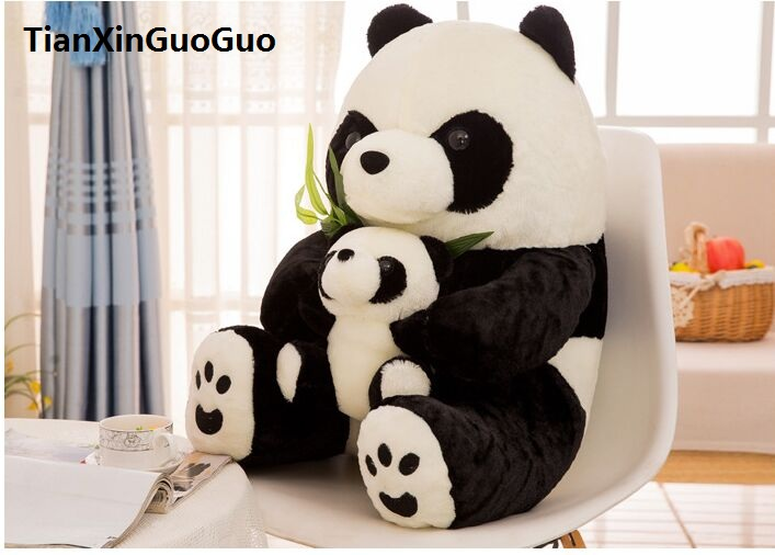 Stuffed animal cute Panda large 40cm plush toy bamboo panda hug baby panda Doll birthday gift b2640 110cm cute panda plush toy panda doll big size pillow birthday gift high quality