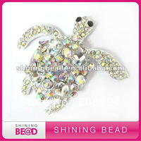 AB Color Tortoise Design Rhinestone Brooch New Design Free Shipping