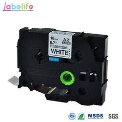 Labelife 18mm TZe S241 3/4 cala. Dodatkowa wytrzymałość czarny na białym dla Brother p touch taśma TZ S241 do szorstkich lub teksturowanych powierzchni|Taśmy do drukarek|Komputer i biuro -