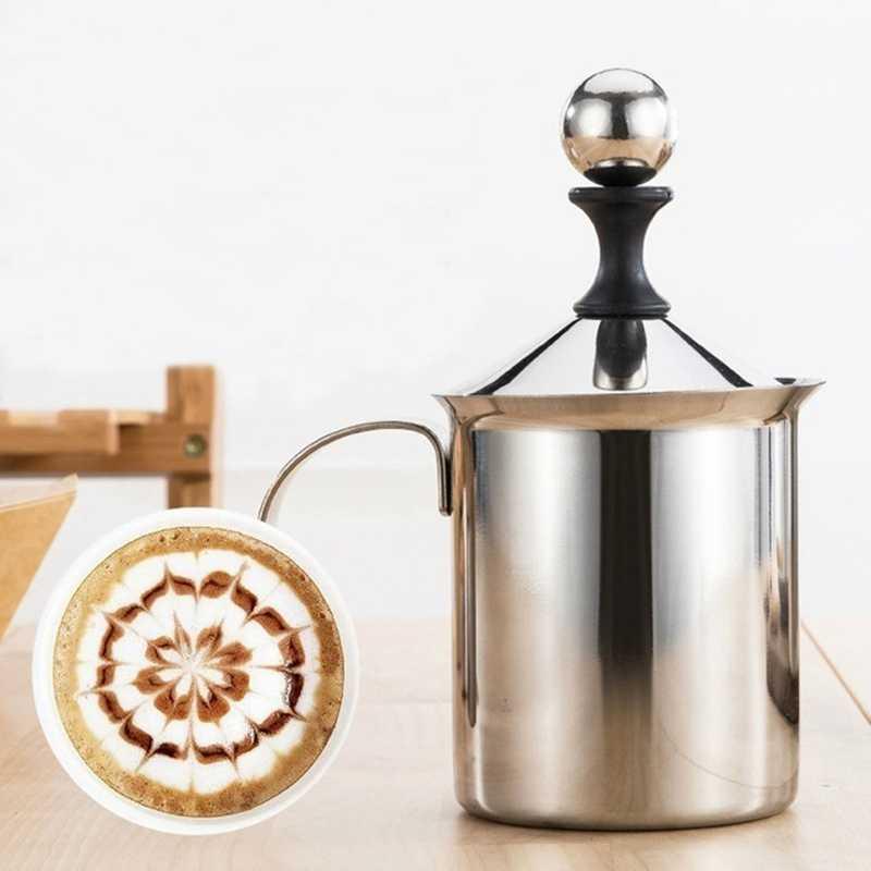 Instrukcja mleko praska francuska pompa ręczna ze stali nierdzewnej spieniacz mleka ręczny dzbanek do mleka