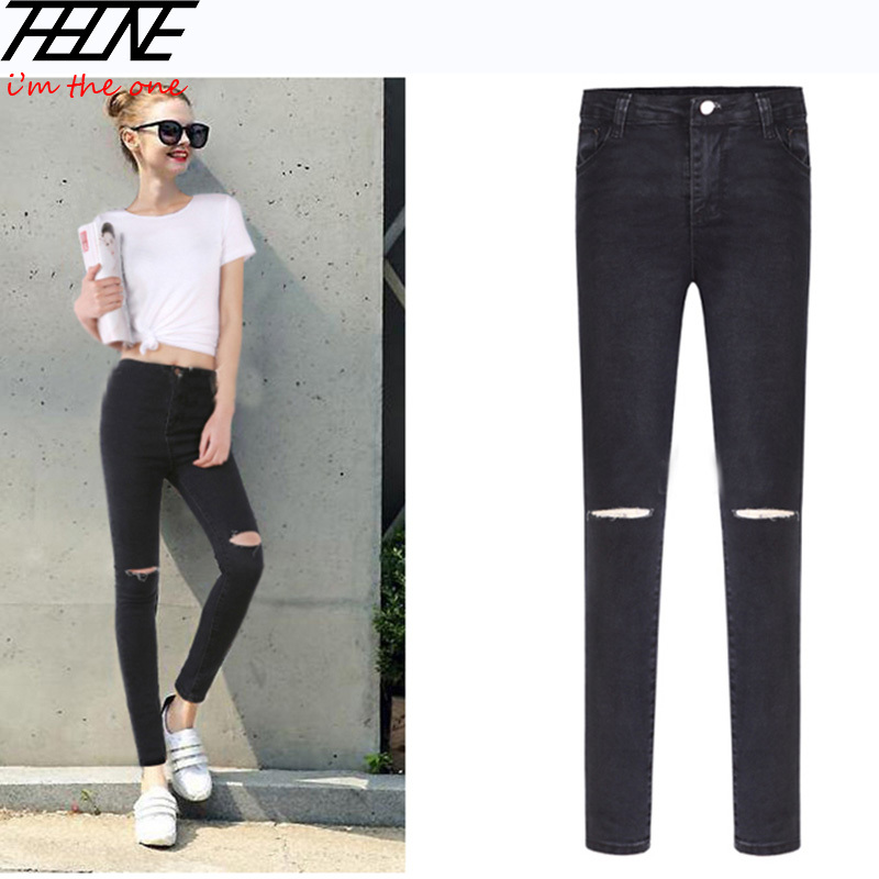 Ripped Black Skinny Jeans Womens Photo Album - Fashion Trends and ...