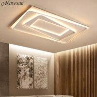 Remote control lights ceiling led for living room home lighting 50w 40w lampara techo White frame plafones de techo led