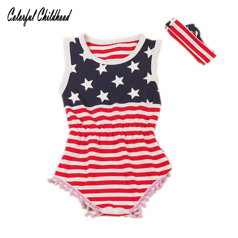 c9244fb76248 Best buy Baby girls Rompers newborn baby fashion US Flag rompers toddler  girls stripe stars tassel jumpsuit overalls Outfits online cheap