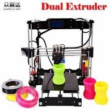 Más reciente Actualización Opcional de Doble Extrusora de Dos Colores Auto Nivelación Reprap Prusa i3 impresora 3d Kit DIY ZONESTAR P802NR2 Envío Gratis