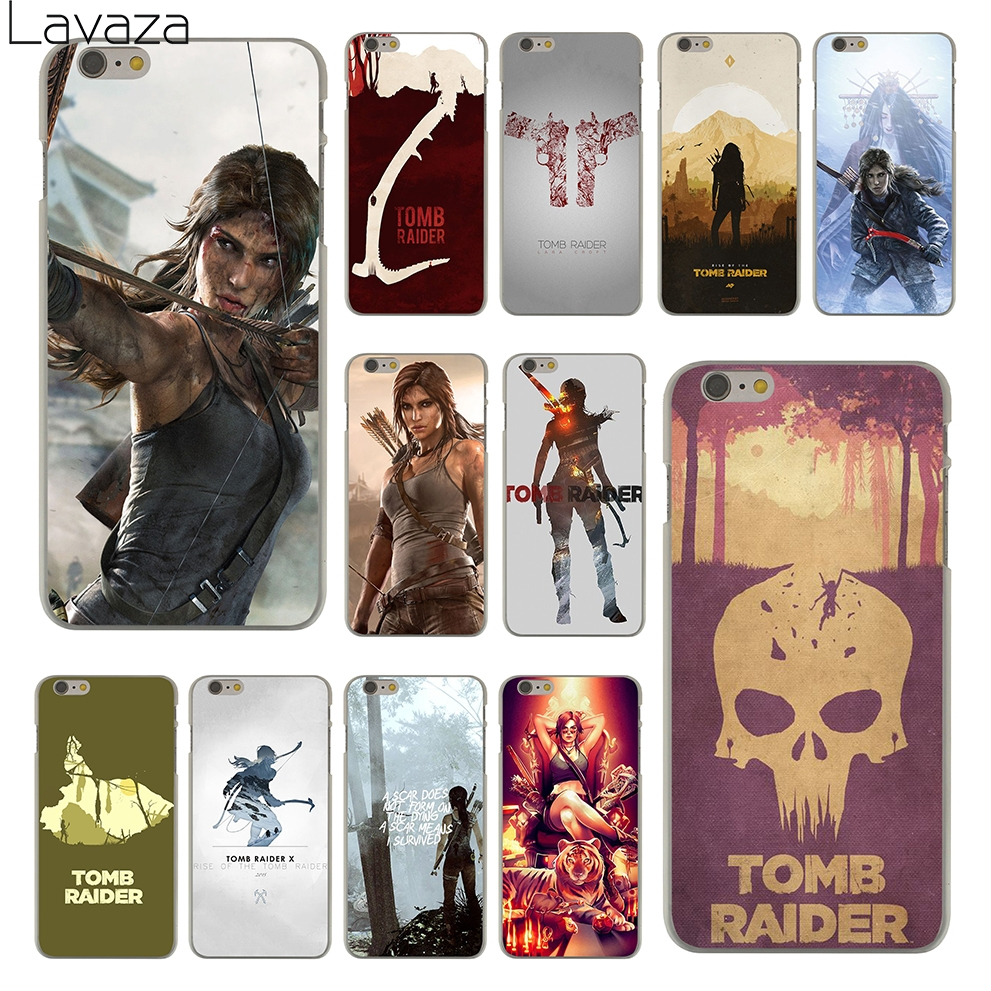Lavaza Tomb Raider Hard Clear Skin Cover Case for Apple iPhone 6 6S 6 S Back Phone Case Coque Shell